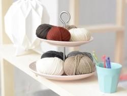 """Laine à tricoter """"Essentials Cashlana Chunky """" - beige mélangé"""