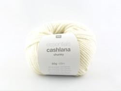 """Laine à tricoter """"Essentials Cashlana Chunky """" - crème"""