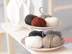 "Laine à tricoter ""Essentials Cashlana "" - galet"