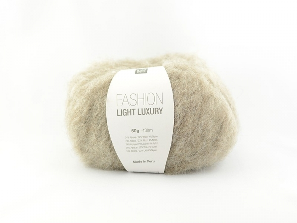 """Laine à tricoter """"Fashion light luxury"""" - beige"""