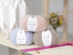 """Laine à tricoter """"Fashion light luxury"""" - jaune"""
