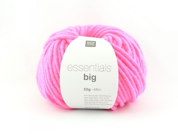 "Laine à tricoter ""Essentials big"" - rose fluo"