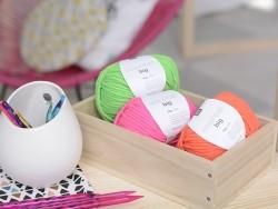 "Laine à tricoter ""Essentials big"" - rose fluo"