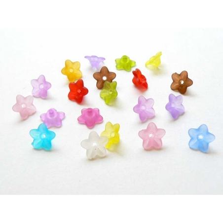 Acheter 20 perles en forme de fleur - Multicolore - 2,90€ en ligne sur La Petite Epicerie - Loisirs créatifs