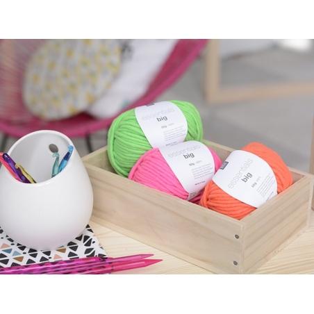 """Knitting wool - """"Essentials big"""" - neon orange"""