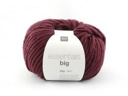 """Strickwolle - """"Essentials - big"""" - rubinrot"""