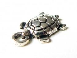 1 breloque tortue - couleur argent