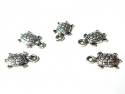 1 tortoise charm - silver-coloured
