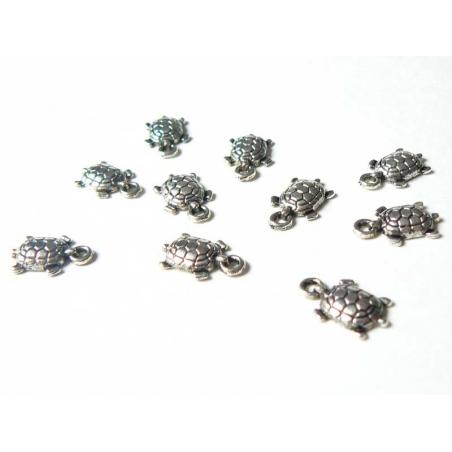 Acheter 1 breloque tortue - couleur argent - 0,59€ en ligne sur La Petite Epicerie - 100% Loisirs créatifs