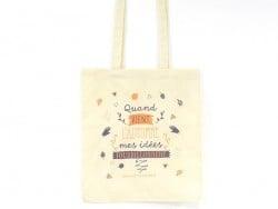 Tote bag - sac en coton La Petite Epicerie - Automne
