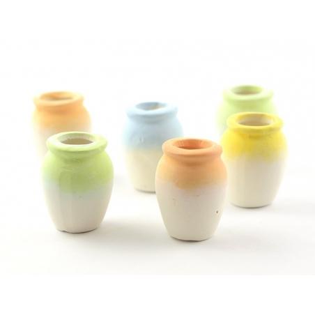 6 vases en terre