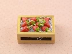 Cagette de fraises miniature