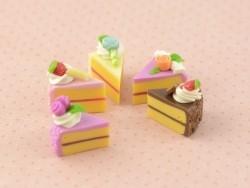 5 Miniaturkuchenstücke