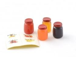4 pots de confiture miniature