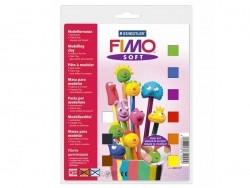 Coffret 9 demi-pains de pâte FIMO SOFT + vernis + accessoires