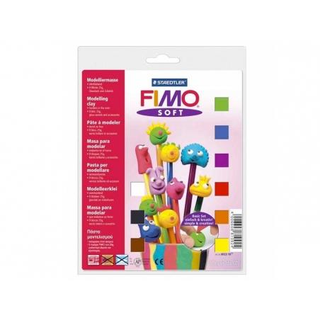 Acheter Coffret 9 demi-pains de pâte FIMO SOFT + vernis + accessoires - 12,90€ en ligne sur La Petite Epicerie - Loisirs cré...