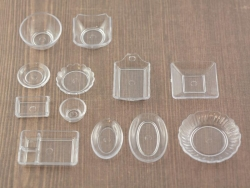 Transparent miniature tableware