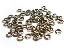 Acheter 100 anneaux 4 mm couleur bronze - 3,60€ en ligne sur La Petite Epicerie - Loisirs créatifs