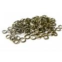100 anneaux 5 mm couleur bronze