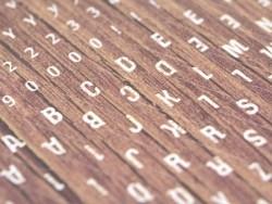 Buchstabensticker - Holzeffekt