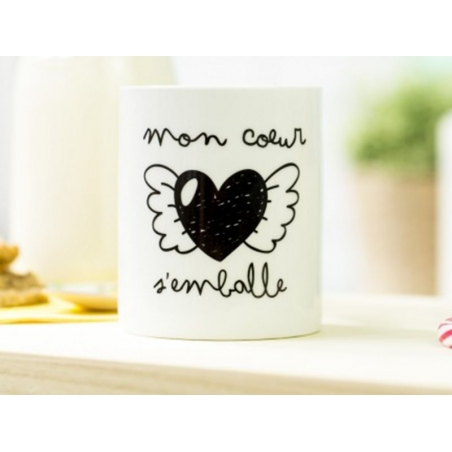 "Mug ""Mon coeur s'emballe"" Mr Wonderful  - 2"