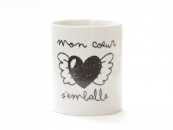 "Mug - ""Mon coeur s'emballe"" (My heart goes wild)"