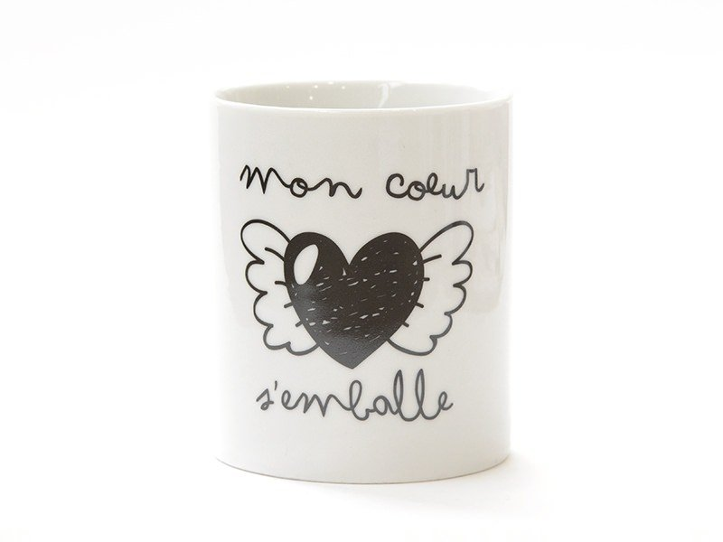 "Mug ""Mon coeur s'emballe"" Mr Wonderful  - 1"