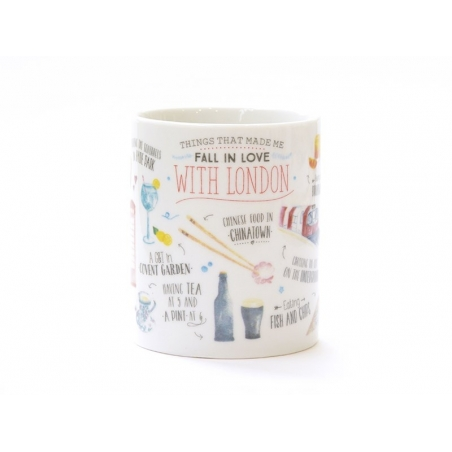 "Mug ""Things that made me fall in love with London"""