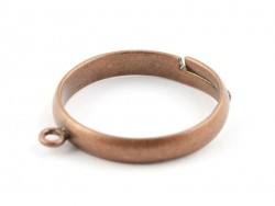 Ring with a jump ring - copper-coloured
