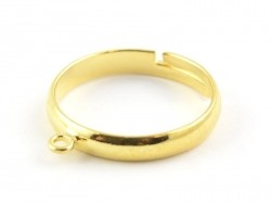Ring with a jump ring - golden