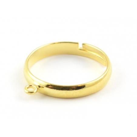 Bague avec anneau - couleur or