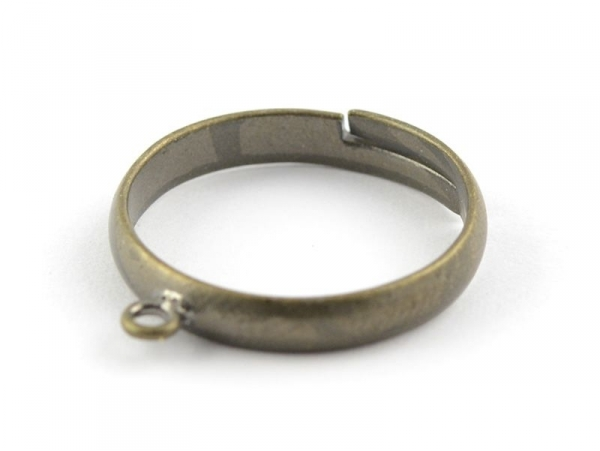 Ring with a jump ring - bronze-coloured
