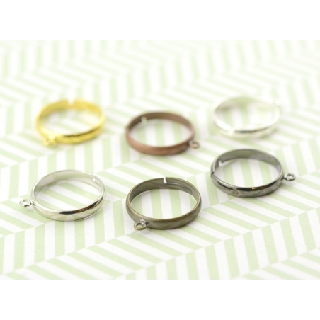 Acheter Bague avec anneau - couleur bronze - 0,49€ en ligne sur La Petite Epicerie - Loisirs créatifs