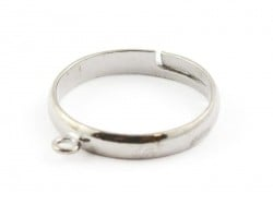 Bague avec anneau - couleur argenté