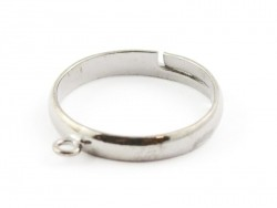Ring with a jump ring - silver-coloured