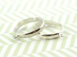 Bague avec anneau - couleur argent