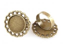 Support de bague pour cabochon - couleur bronze