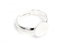 1 ring blank for children - light silver-coloured - semi-rushed
