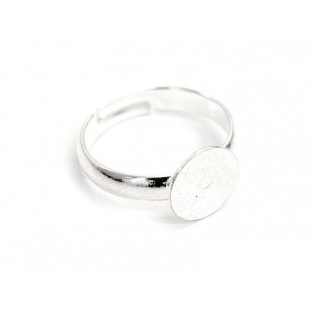 Acheter 1 support de bague ENFANT argenté clair - demi jonc - 1,39€ en ligne sur La Petite Epicerie - Loisirs créatifs