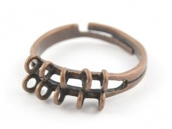 Ring with 10 jump rings - copper-coloured