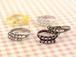 Bague 10 anneaux - couleur noire