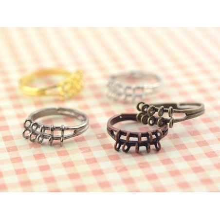 Acheter Bague 10 anneaux - couleur noire - 2,29€ en ligne sur La Petite Epicerie - Loisirs créatifs