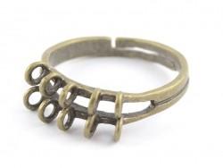 Bague 10 anneaux - couleur cuivre