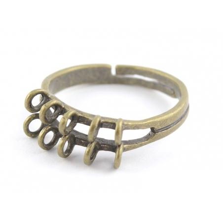 Bague 10 anneaux - couleur bronze