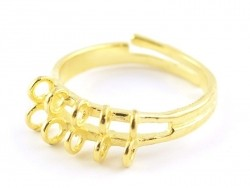 Ring with 10 jump rings - golden