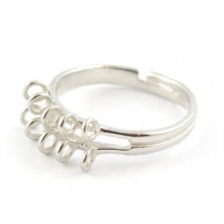 Acheter Bague 10 anneaux - couleur argent - 2,29€ en ligne sur La Petite Epicerie - Loisirs créatifs