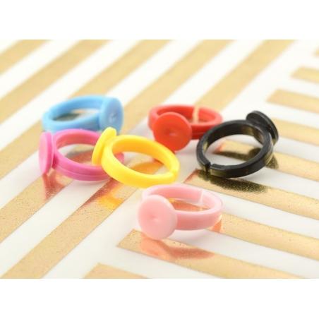 Support de bague pour enfant en plastique - rose vif