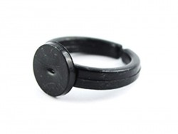 Plastic ring blank for children - black