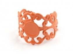Support de bague baroque ajouré - orange