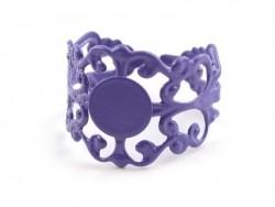 1 support de bague baroque ajouré - violet